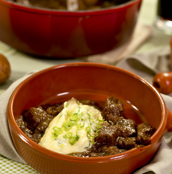 Beef And Guinness Stew With Potato Champ Fast Ed